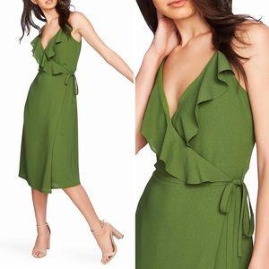 1. State Flounce Detail Wrap Dress Sz 2 NWT